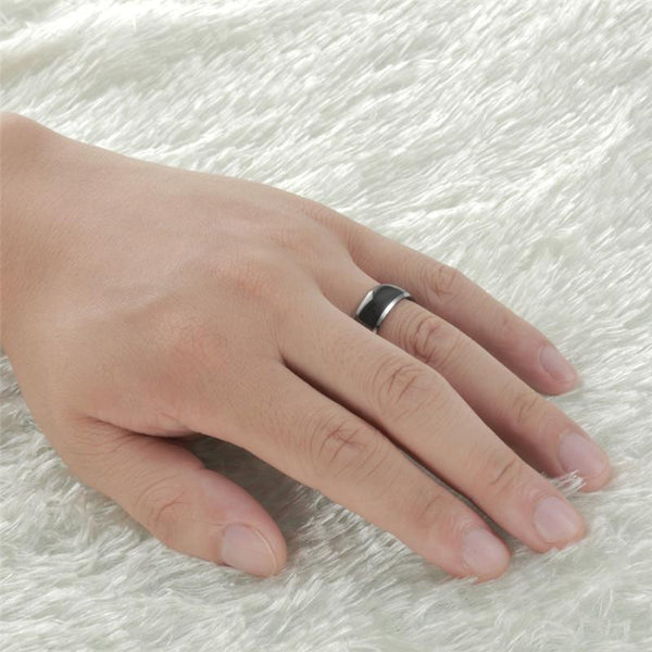 rings for him - black and silver Tungsten mens ring