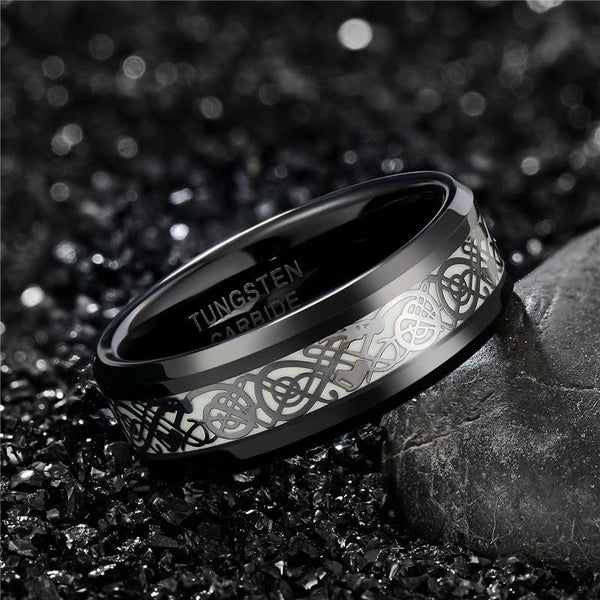 Glow in the dark mens ring gift for him