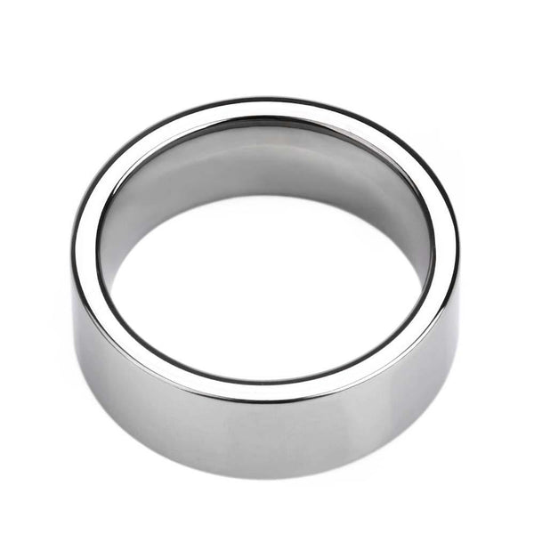 Silver Tungsten mens ring with custom engraving
