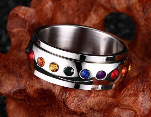 UFO space design silver ring for men