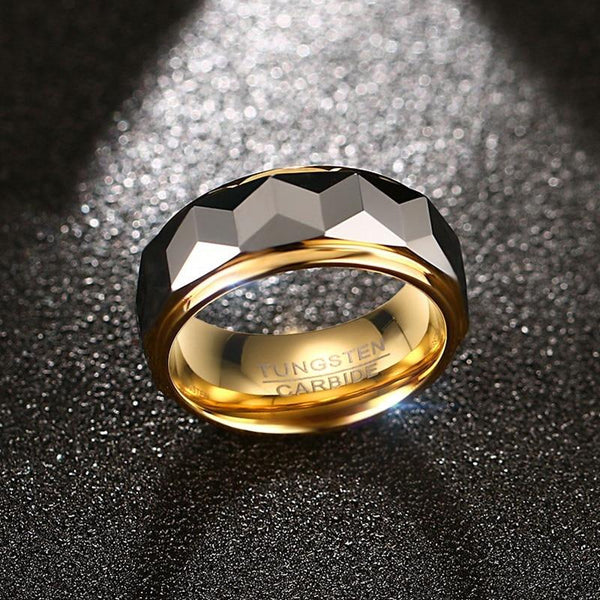 Unique cool gold and silver mens ring