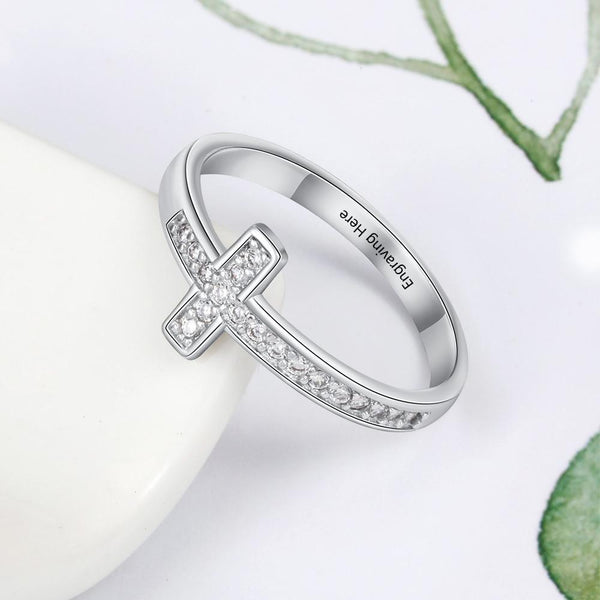 Catholic personalized promise rings for her