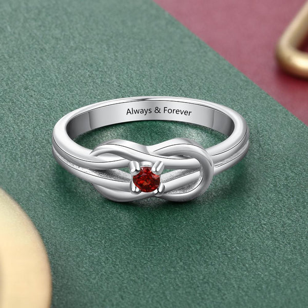 Personalized Celtic knot ring for women