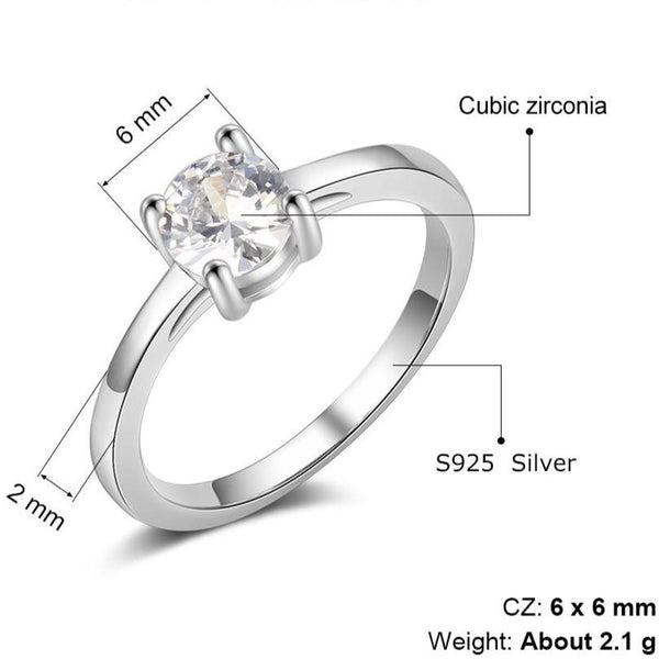 Promise ring for her - sterling silver womens ring
