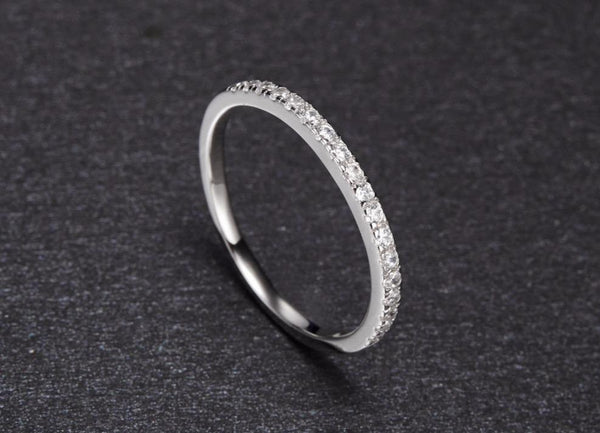 Simple minimalist silver ring for women
