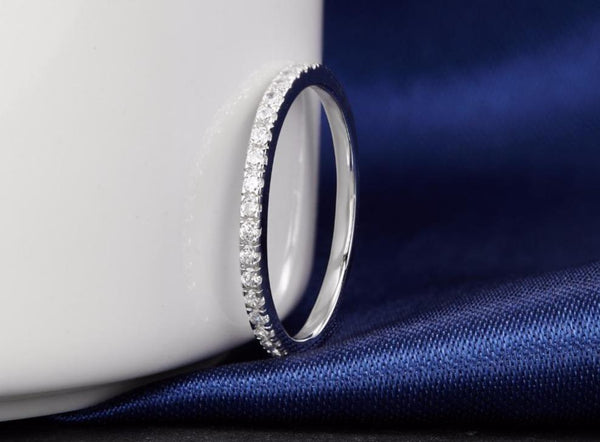 Simple silver promise ring for her