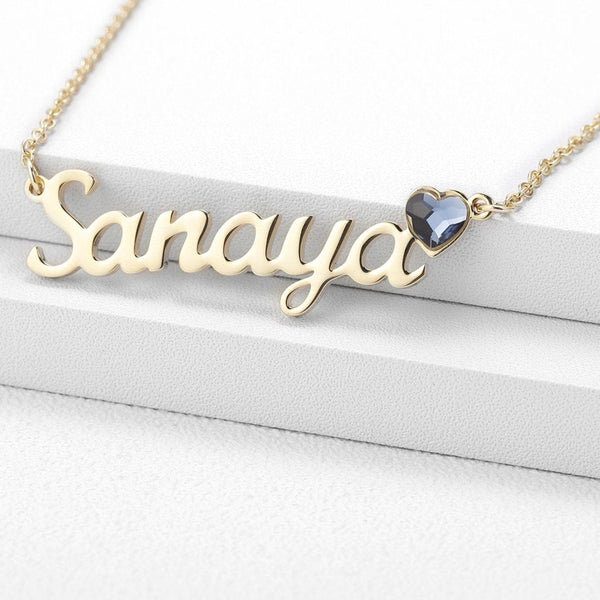 Custom name necklace gift for her
