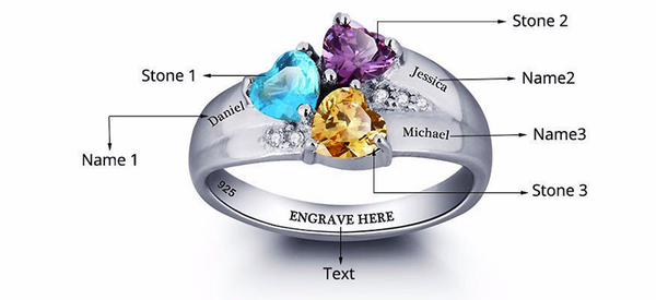 3 stone custom promise ring instructions
