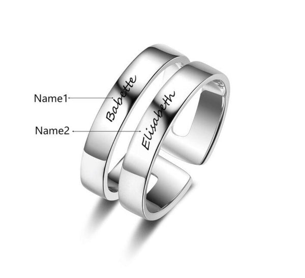 Personalized best friend promise ring