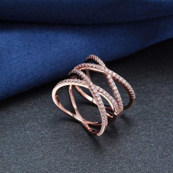 rose gold sterling silver womens ring