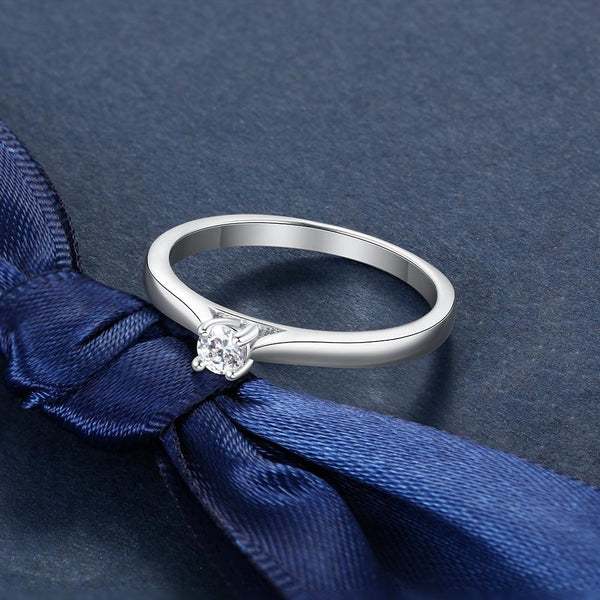 Simple promise ring - sterling silver womens ring