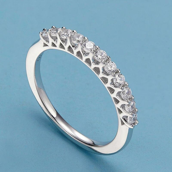 Simple promise rings for her - sterling silver womens ring