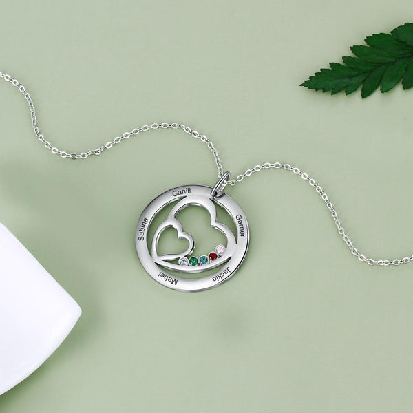 Personalized 5 names womens necklace