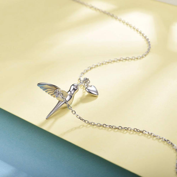 Hummingbird Necklace - Sterling Silver Hummingbird Necklace Gifts For Women