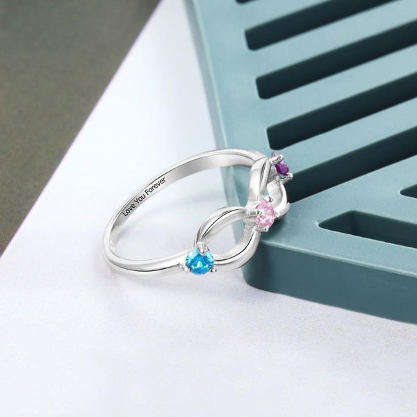 Promise rings for her - silver womens ring