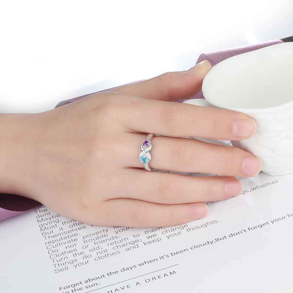 Infinity Knot Sterling Silver Womens Promise Ring