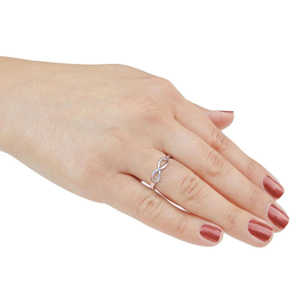 Infinity knot sterling silver womens ring