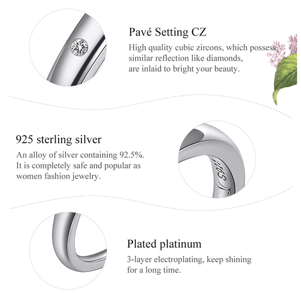 Custom Personalized Alphabet Letter A-Z Sterling Silver Womens Ring