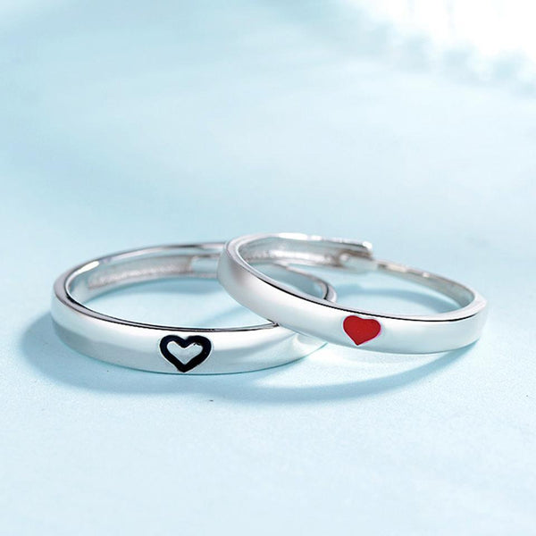 Love Heart Matching Couples Rings
