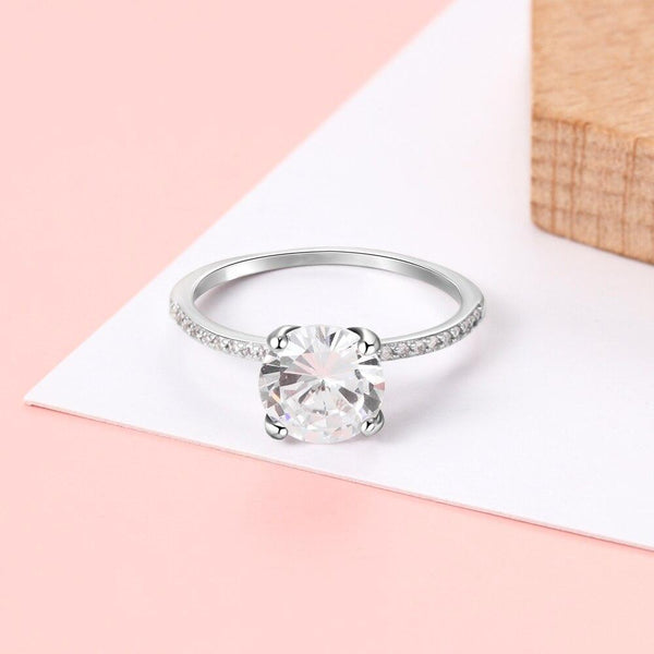 Promise rings for her - sterling silver womens ring