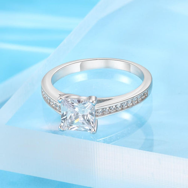 Promise rings for her - minimalist sterling silver womens ring