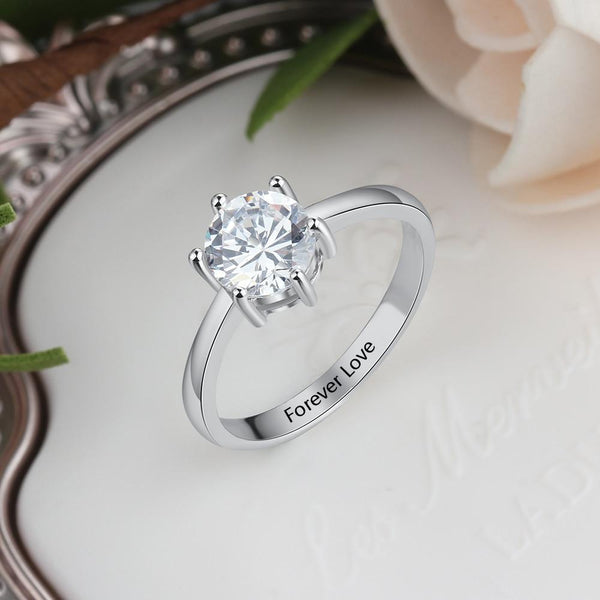 Promise ring for her - personalize sterling silver womens ring