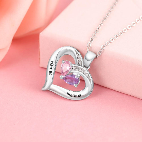 Personalized birthstone necklace for women