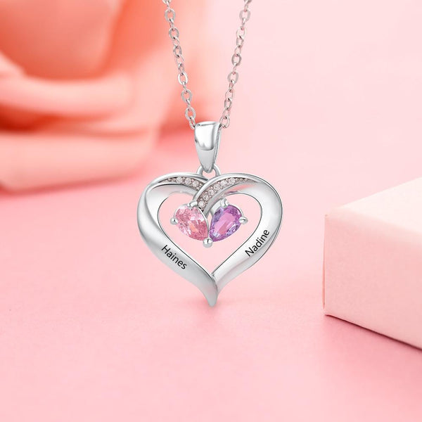 Personalized heart necklace for women