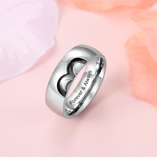 Personalized infinity matching couple rings