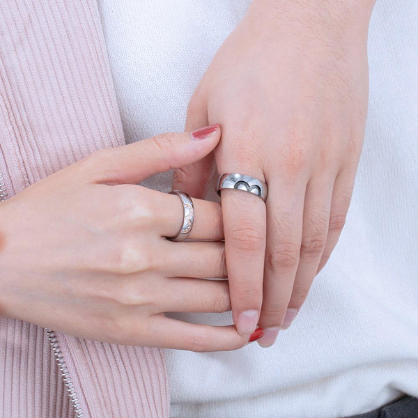 Personalized infinity stainless steel couple rings