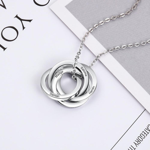 personalized custom silver womens necklace