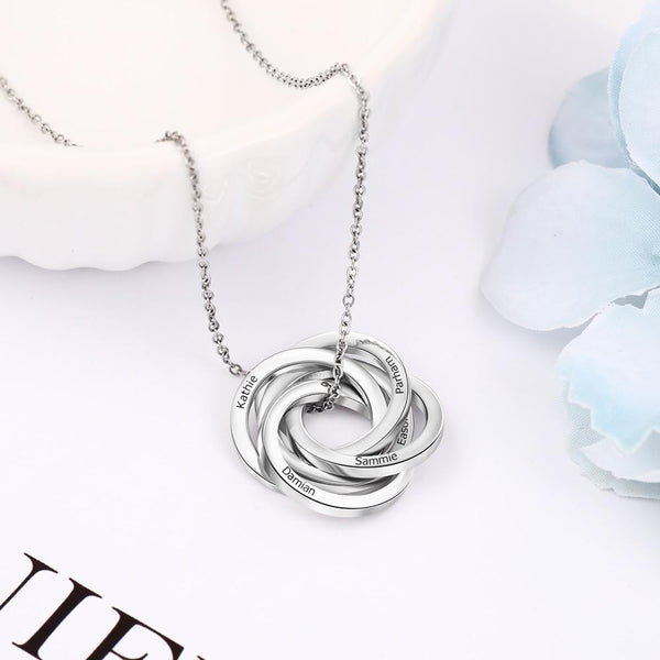 Personalized silver womens necklace gift