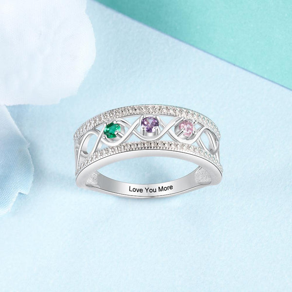 Promise rings for her - princess sterling silver womens ring