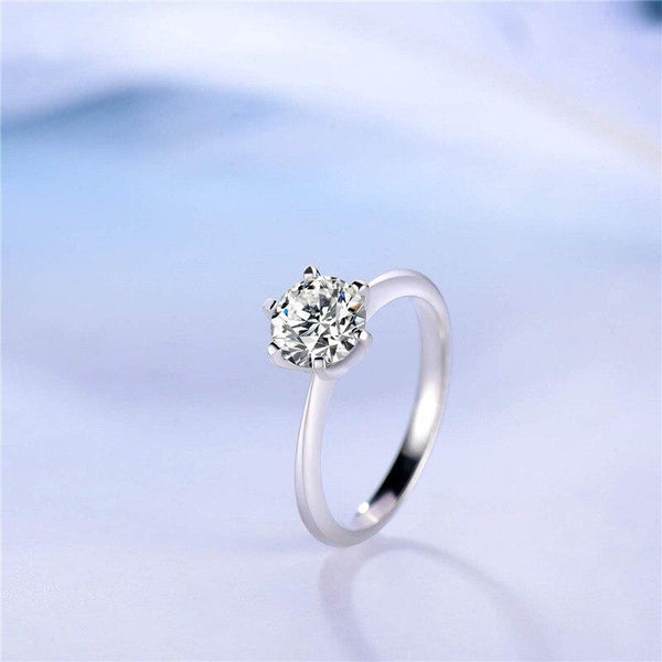 Promise ring for her - princess sterling silver womens ring