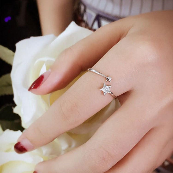 Shooting Star Sterling Silver Women's Ring