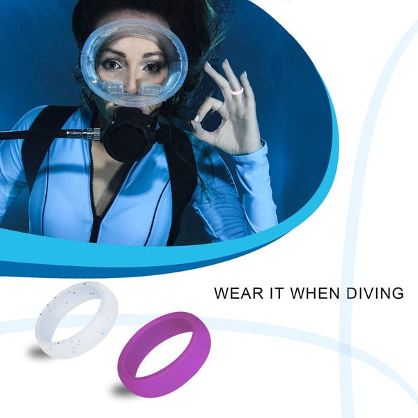 Sports Womens Silicone Rings