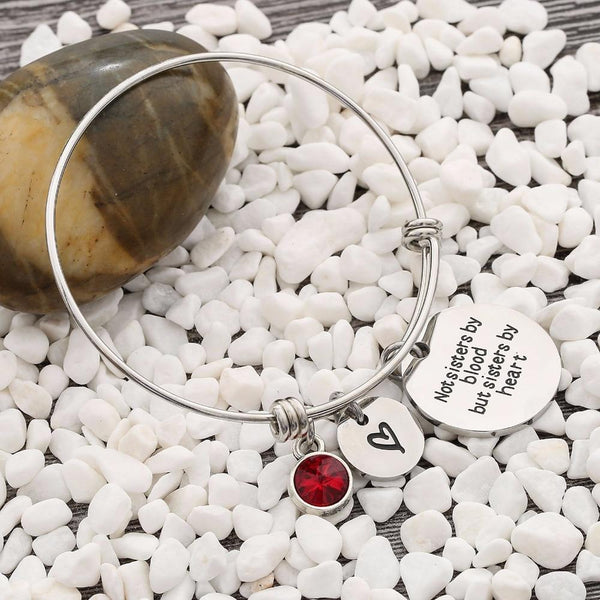 sisters by blood silver birthstone womens bracelet