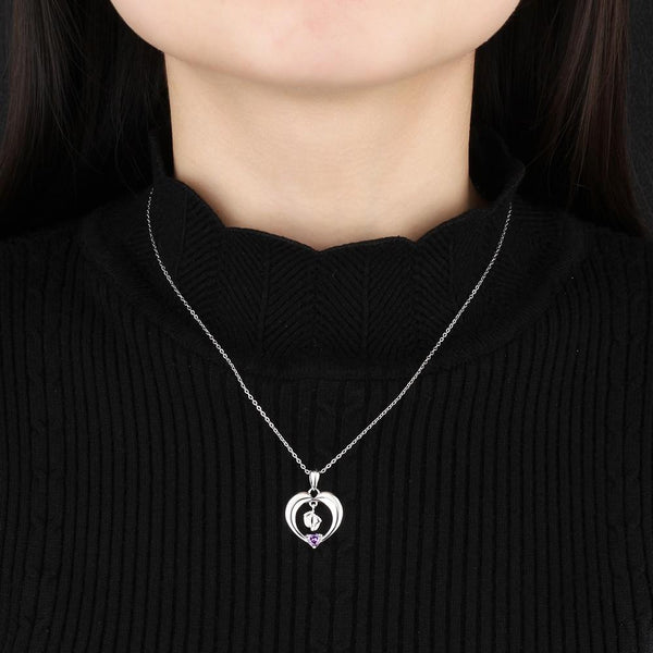 Moms necklace - sterling silver birthstone necklace