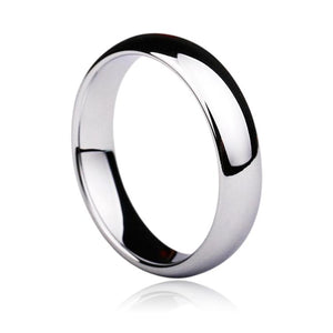 Promise Rings - 2mm to 6mm Silver Polished Tungsten Band Unisex Rings