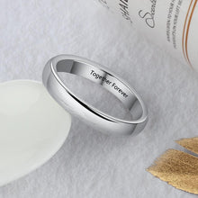 Promise Rings - 3mm Classic Personalized Silver Womens Ring