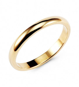 Promise Rings - 3mm Vintage Gold Color Tungsten Unisex Ring