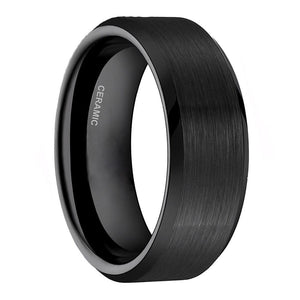 Promise Rings - 4mm, 6mm or 8mm Black Ceramic Unisex Rings