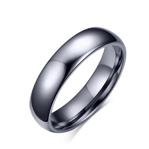 Promise Rings - 4mm or 6mm Smooth Polished Tungsten Mens Ring