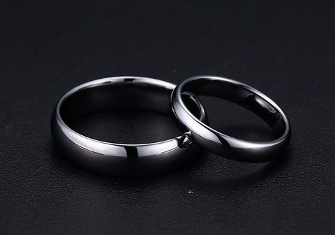 Promise rings for him - Simple Polished Tungsten Mens Ring