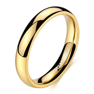 Promise Rings - 4mm Simple Light-Weight Titanium Unisex Rings (4 Colors)