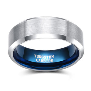 Promise Rings - 4mm/6mm/8mm Tungsten Matte Brushed Mens Ring (2 colors)
