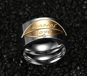 Promise Rings - 5mm/6mm Forever Love Stainless Steel Couple Rings