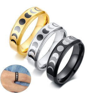 Promise Rings - 6mm Lunar Moon Phase Ring