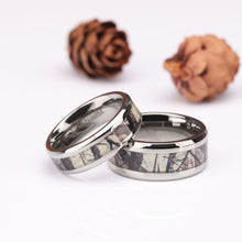 Promise Rings - 6mm/8mm Forest Scenery Camo Titanium Unisex Rings (2 Colors)