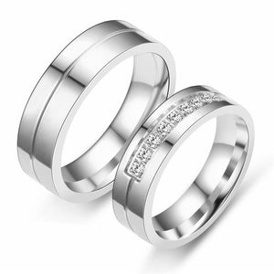Promise Rings - 6mm/8mm Romantic Stainless Steel Couple Rings (2 colors)